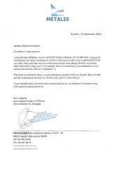 Отзыв от «Metalis» о бюро технических переводов «Линготех»